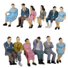 1 pcs échelle 1:87 ABS peint passager de personnes assises Figures au hasard