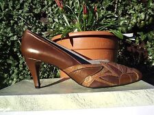 VINTAGE 80s STUNNING LEATHER+SUEDE SHOES.£45 TAGS