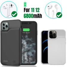 6800mAh Battery Case Bank For iPhone 11/12 Pro Max Power smart Charging Cover