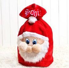 Personalised Embroidered Christmas Santa Stocking Sack