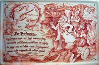 Beruf Professor Professorin Blechschild Schild Blech Metall Tin Sign 20 x 30 cm