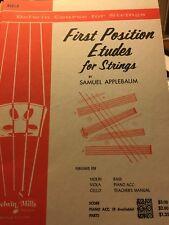Viola First Position Etudes for Strings, S. Applebaum