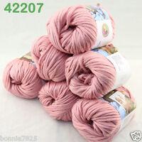 Sale Lot 6ballsx50g Soft Worsted Cotton Chunky Bulky Hand Knitting Shawl Yarn 07