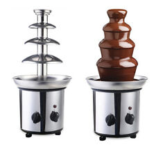 4-Tier Commercial Stainless Steel Chocolate Fondue Fountain Equipment Machine US
