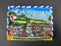 Magnet Garmisch Partenkirchen Poly Relief 7 cm Germany Souvenir,NEU