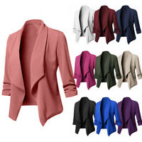 HOT Womens Solid Open Front  Cardigan  Long Sleeve Blazer Casual Jacket Coat