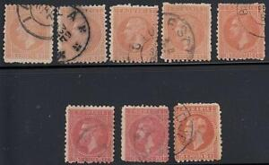 👉 ROMANIA 1872//79 small COLLECTION x8 used STAMPS CV$80++ GOOD for VARIETIES