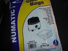 HENRY HOOVER VACUUM BAGS NUMATIC James Basil bags Electruepart Bag 50