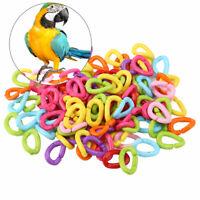 100Pcs C-Clips Hooks Toy Parrot Bird Supplies Foot DIY Crafts Plastic Chain Link