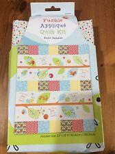 """Bug Design Applique Cot/Crib/Baby/Child Patchwork Cotton Quilt Kit Size 33x39.5"""""""