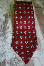 Vtg 1930s 40s Gents Classic Tie  Hand Print Hand Made Pattern Silk Folkespeare