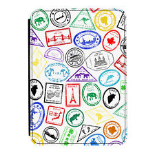 Passport Stamps Travel India Thailand iPad Mini 1 2 3 PU Leather Flip Case Cover