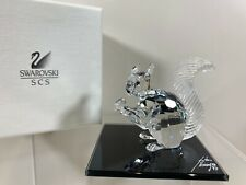 Swarovski Crystal Figure Scs 10th Anniversary Edition Squirrel Mib W/Coa
