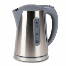 Modern LOW WATTAGE 1.7L STAINLESS STEEL ELECTRIC CORDLESS camping caravan KETTLE