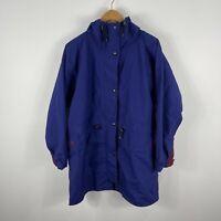 VINTAGE Kathmandu Gore Tex Jacket Size Large Blue Double Zip Hooded