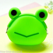New Silicone Jelly FROG Cute COIN PURSE Clip Fastening Bag Wallet, UK Sale, GB