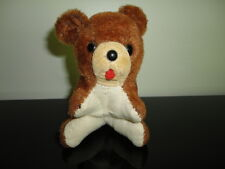 Antique UK Mohair Velvet Tongue Bear Glass Eyes 4 inch ADORABLE