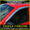 For 2002-2009 Dodge Ram 2PC Front CHROME Door Vent Window Visors Rain Guards