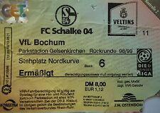 TICKET 1998/99 FC Schalke 04 - VfL Bochum