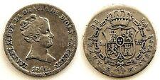 Spain-ISABEL II. 1 real. 1842 CL. Madrid. Plata 1,5 g. Muy rara