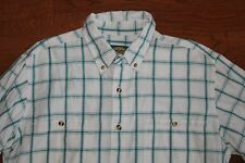 Cabela's Outdoor Gear Shirt Mens LargeTall Whi/Grn Plaid Long Sleeve Button Down
