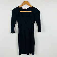 Review Womens Black Dress Size 6 Bodycon Stretchy Good Condition Gorgeous Dress
