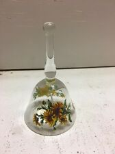 Hand Made Clear Glass Sunflower Bell By West Virginia Glass Company