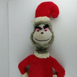 "Eden Toys Grinch Gray Dr. Seuss Double Sided Nice/Evil Christmas 28"" Colombia"