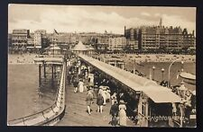 POSTCARD On the West Pier BRIGHTON Sussex BEACH People Boat BUILDINGS 1178
