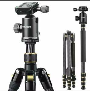 K&F Concept TC2534 66 inch Professional Carbon Fiber DSLR Camera Tripod Monopod
