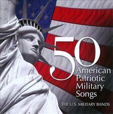 NEW 50 American Patriotic Military Songs (Audio CD)