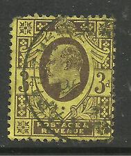 GB 1911 KEV11 3d PURPLE/YELLOW 15 x 14 PERFS WMK 49 .( E807 )
