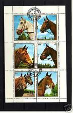 M/S, S/S OF STAMPS FROM SHARJAH 1972 DEPICTING HORSES