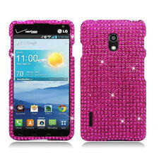 For LG Optimus F7 US780 Crystal Diamond BLING Hard Case Cover Hot Pink