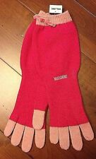 "NEW MOSCHINO KNITTED GLOVES 60% LAMBS WOOL  13"" LONG"