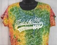 Ladies Tie Dye Maid Of The Mist T-Shirt Size 2XL Niagara Falls, NY Semi Shear