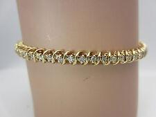 14K Yellow Gold 1 CT Diamond S Link Tennis Bracelet
