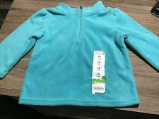 Jumping Beans Light turquoise 12 months  Soft fleece with with 1/4 zipper
