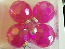 Hot Pink Transparent Christmas Shatter Resistant 3 Inch Ornaments Decorations