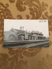 Santa FE Train Depot Waynoka Okla  Postcard Real Photo RPPC Unique Train Station