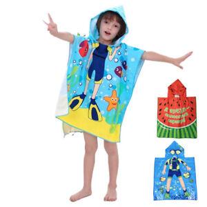 Premium Kinder Baby Badeponcho Poncho Kinderponcho Badetuch mit Kapuze Handtuch