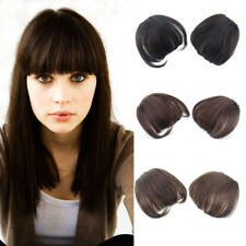 Thick Neat Bangs 100% Human Hair Clip in Hair Piece Front Fringe Hair Extensions