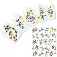 Nagel Sticker Nail Art Butterfly Schmetterling Nägel Fuß Aufkleber Water Decal