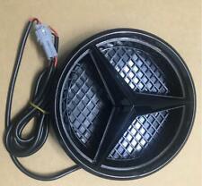 For 2013-2017 Mercedes Benz Illuminated LED Light Front Grille Star Emblem Black