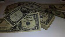 1935-1957 $1 SILVER CERTIFICATE RARE BLUE *LUCKY* ONE DOLLAR BILL LOT NOTE FRN*