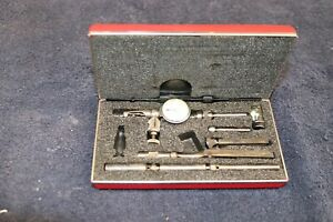 Starrett 711 Last Word Dial Indicator w/Case & Attachments Machinist Tools USA