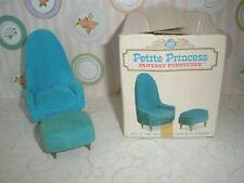 Petite Princess Vintage Dollhouse Furniture IDEAL Chair & Ottoman #4412-3 150