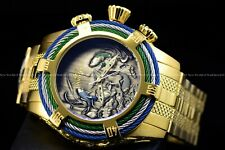 """Invicta 54mm Bolt ZEUS Tri-Cable Japanese Koi Fish """"Asagi"""" Gold Plated SS Watch"""