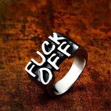 a3a32c1cb Moda Punk Rock Plata 925 compromiso boda de palabra Joyas Anillo Tamaño 9