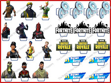 Stand-up Fortnite Fortnight Edible Rice Paper Birthday Cupcake Cake Toppers